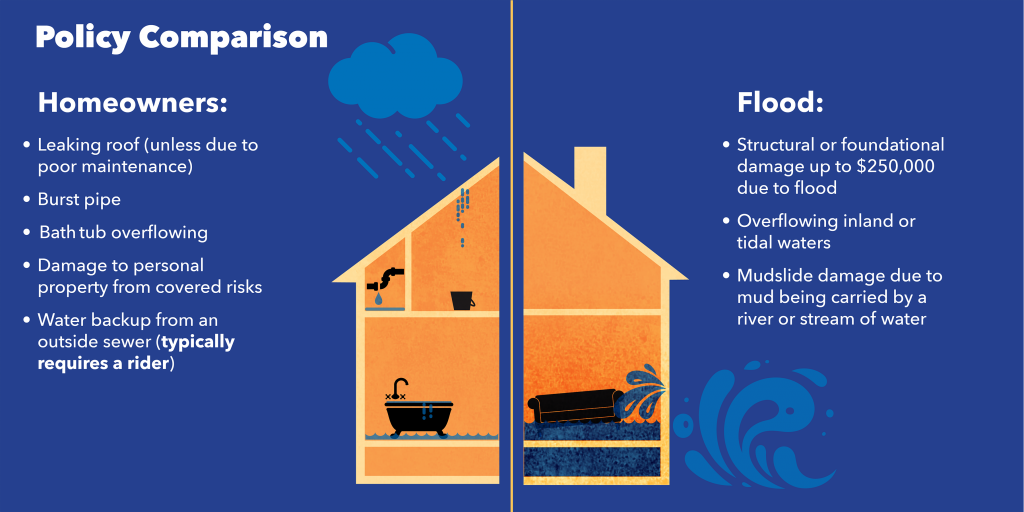 Policy Comparison between Homeowners and Flood