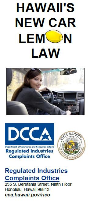 Used Car Lemon Law >> Regulated Industries Complaints Office   Lemon Law ...