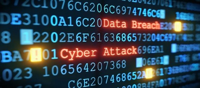 Data breach cyber attack graphic