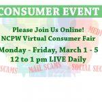 National Consumer Protection Week Virtual Fair Banner Image